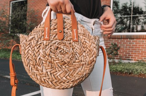 How to Style: Straw Bags | Hey Its Camille Grey #fashion #strawbag