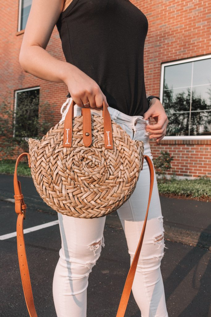 How to Style: Straw Bags   Hey Its Camille Grey #fashion #strawbag