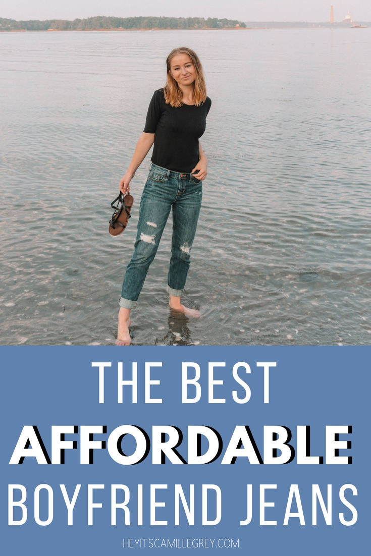 The Best Affordable Boyfriend Jeans | Hey Its Camille Grey #boyfriendjeans #jeans #affordable #fashion
