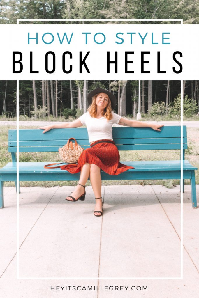 How to Style: Block Heels | Hey Its Camille Grey #fashion #blockheels #ootd #style