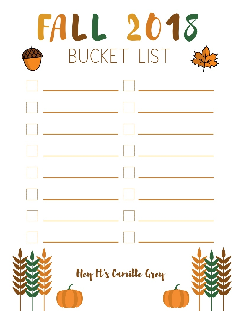 Fall Bucket List | Hey Its Camille Grey #fall #bucketlist