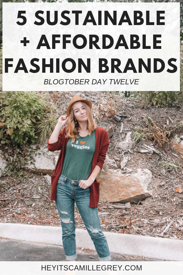 5 Sustainable + Affordable Clothing Brands | Hey It's Camille Grey