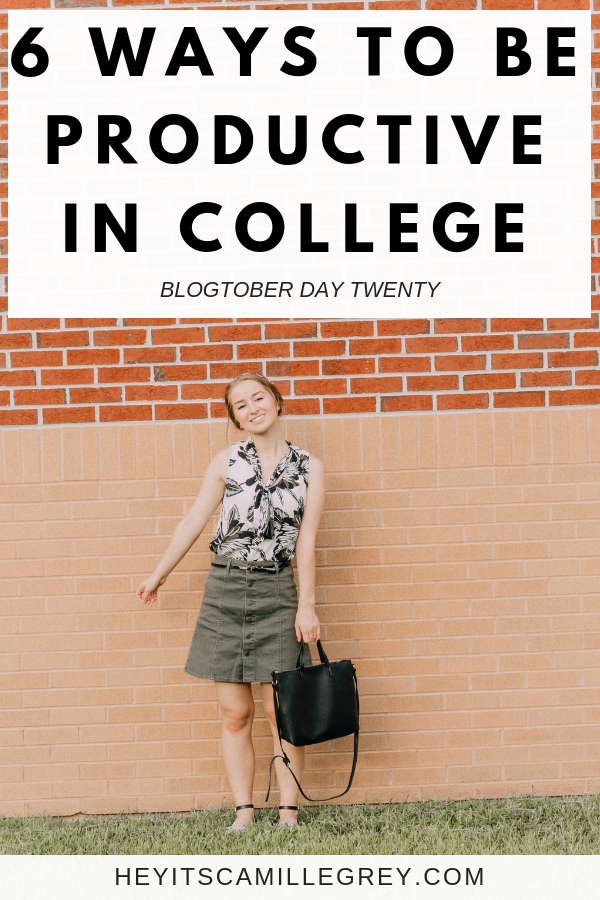 6 Ways to Be Productive in College. So how do you stay productive when you have a million things to do? How do you be productive with your time? Well, I'm going to tell you! | Hey It's Camille Grey #productive #college #productivity #college101