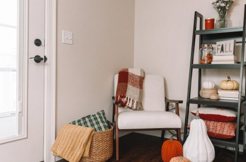 How I Styled My Fall Reading Nook | Hey Its Camille Grey #fall #reading #home