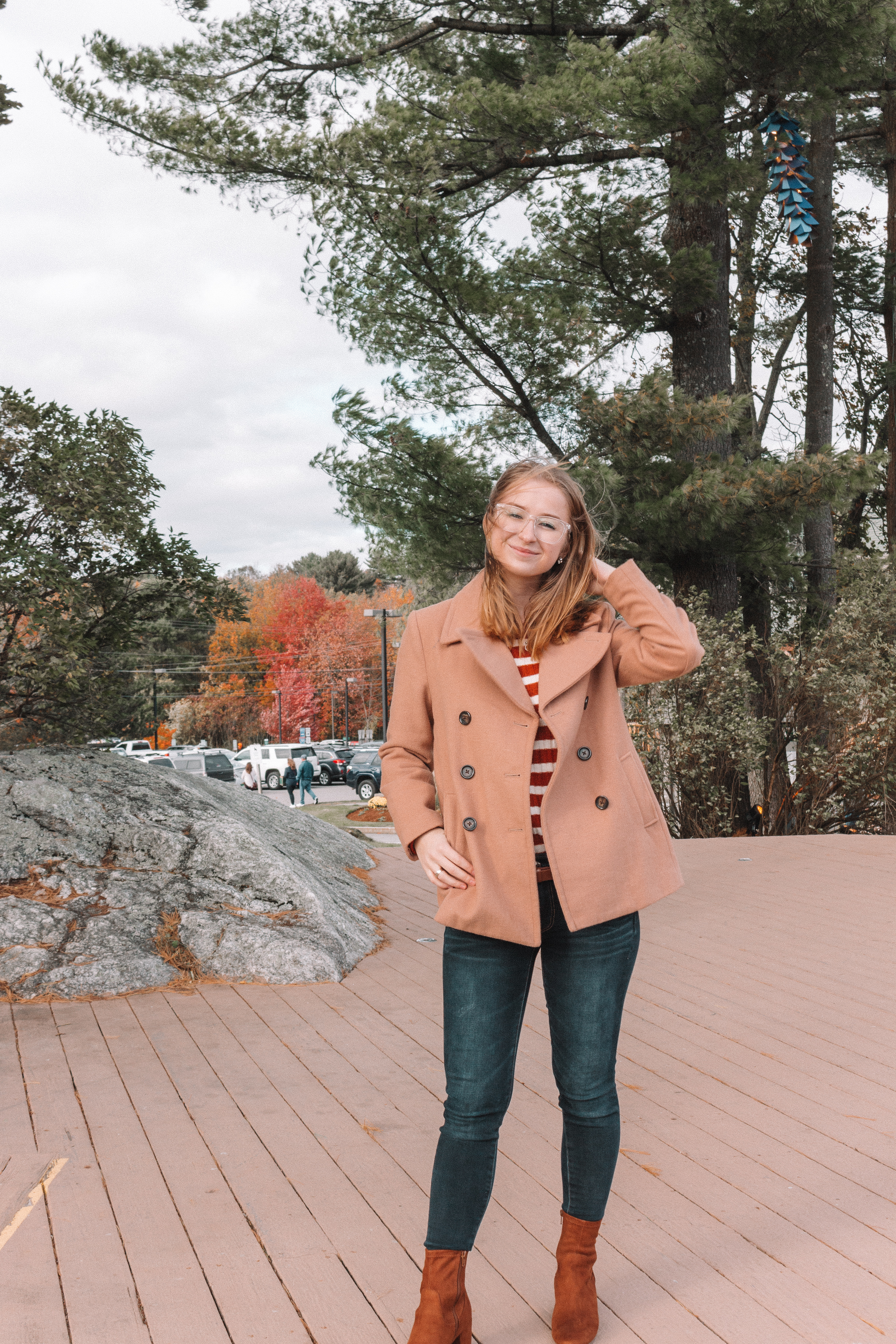 Fall Outfit and Exploring Freeport, Maine | Hey Its Camille Grey #travel #outfit #fall