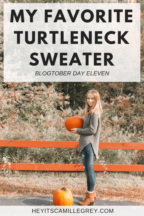 My Favorite Turtleneck Sweater | Hey Its Camille Grey #fashion #turtleneck #target