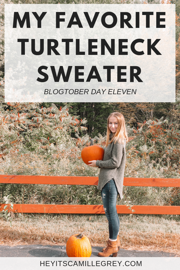 My Favorite Turtleneck Sweater | Hey It's Camille Grey