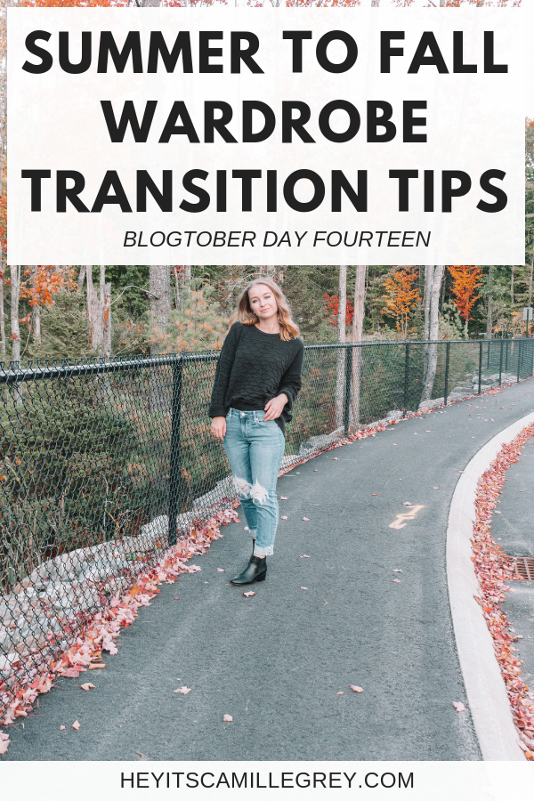 Summer to Fall Wardrobe Transition Tips | Hey It's Camille Grey #fallstyle #fallfashion #ootd #maine
