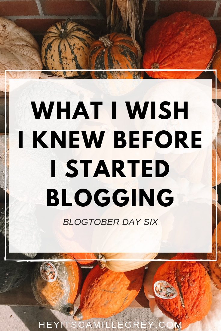 What I Wish I Knew Before I Started Blogging | Hey Its Camille Grey #blogging #blogger