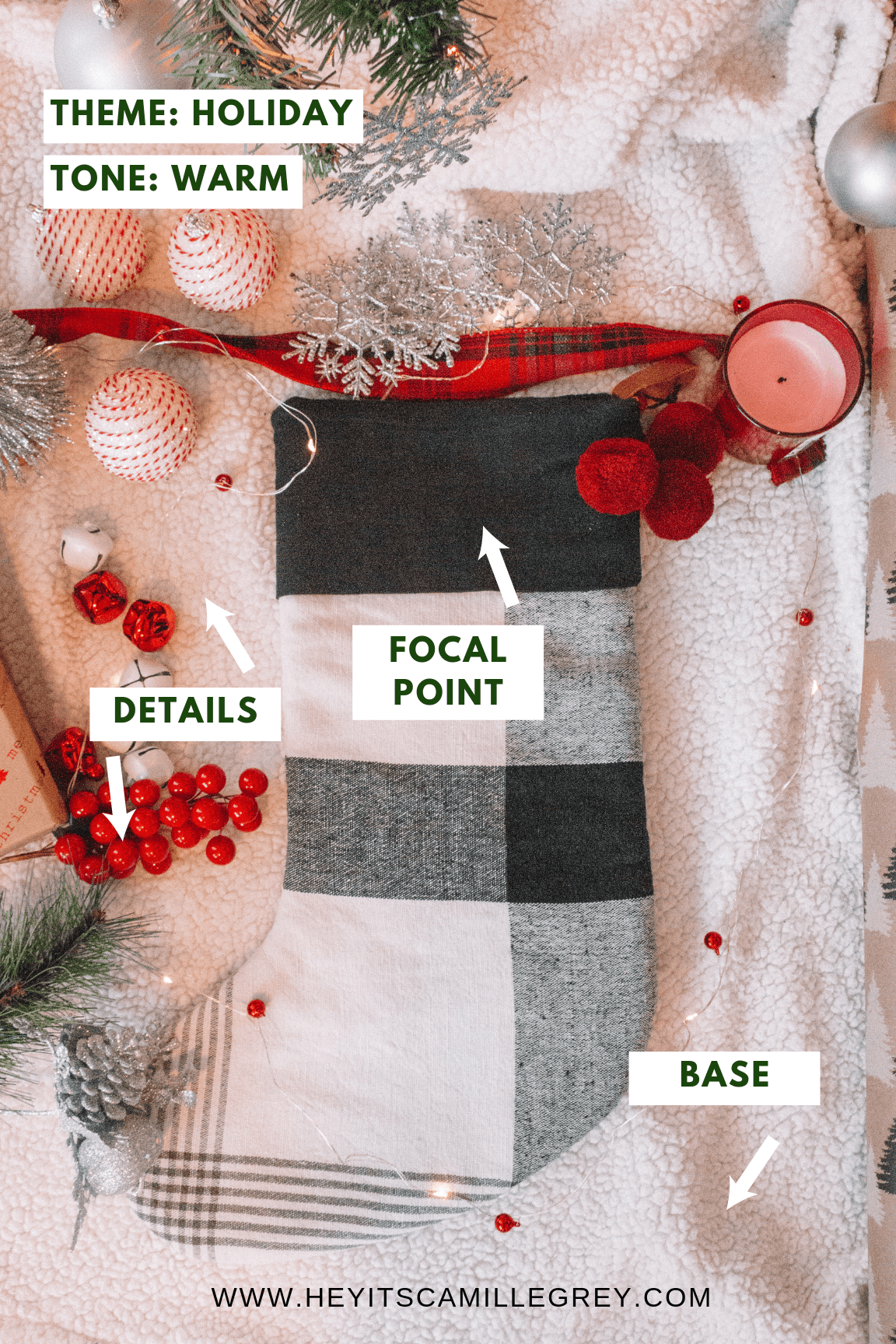 How to Create a Holiday Flatlay | Hey Its Camille Grey