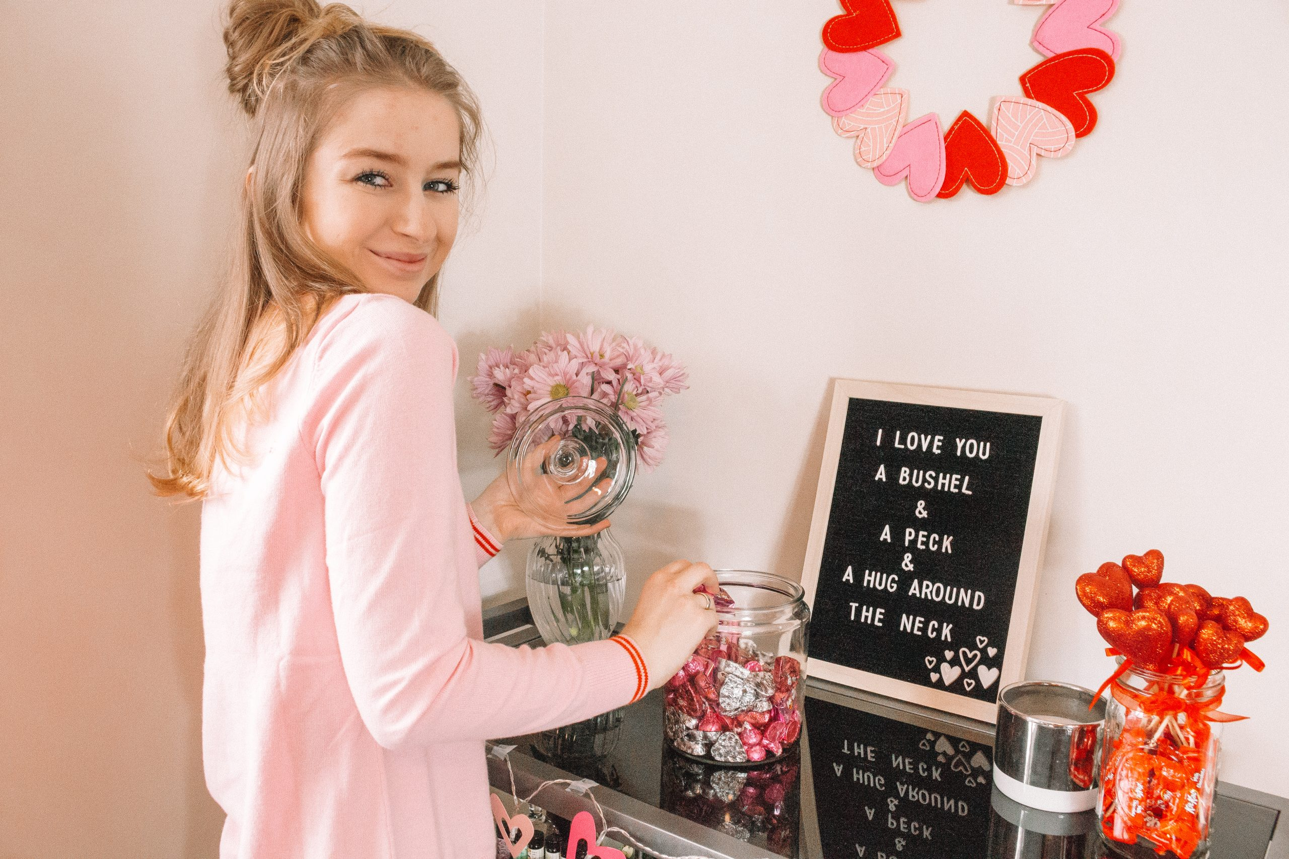 How To Style Your Bar Cart: Valentine's Day Edition