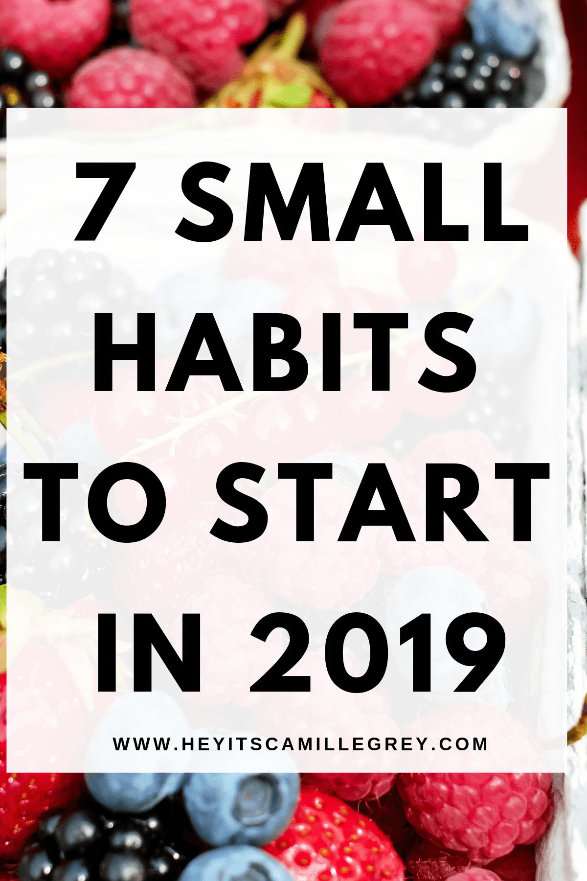 7 Small Habits to Start in 2019 | Hey Its Camille Grey #habits #2019 #positivity