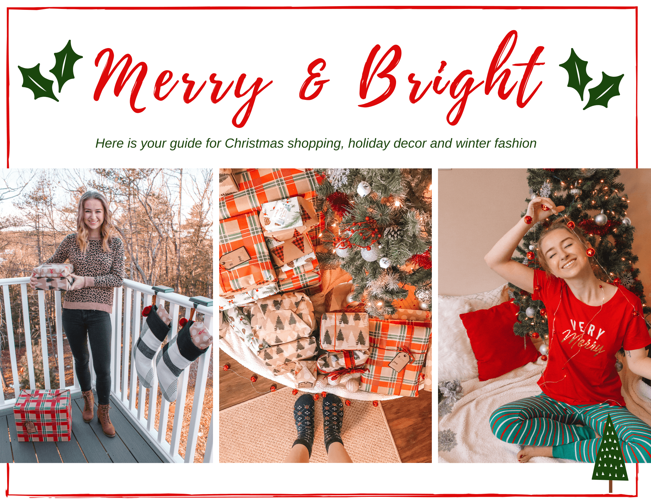 Here is your guide for Christmas Shopping, holiday decor and winter fashion | Hey Its Camille Grey #holiday #christmas #winter