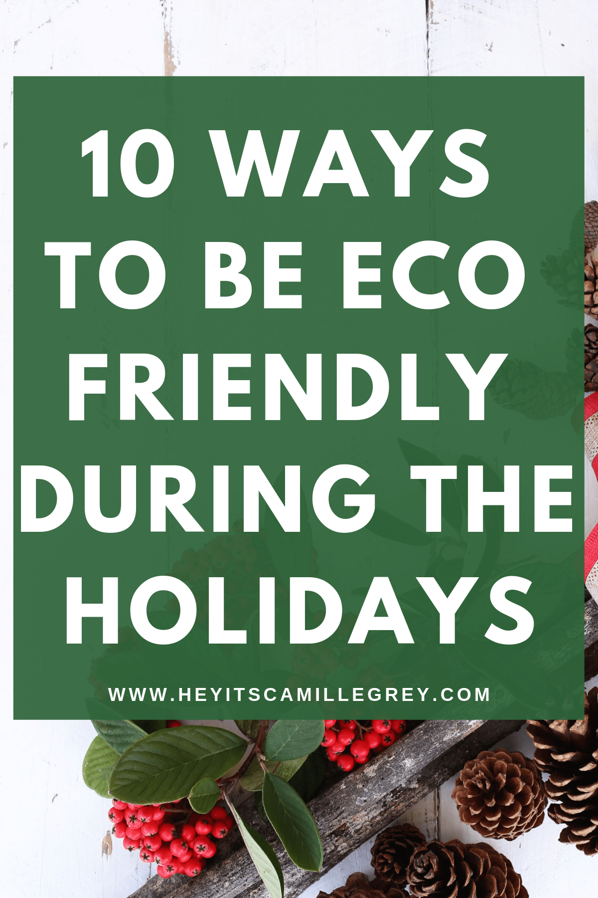 10 Ways to Be Eco Friendly During the Holidays | Hey Its Camille Grey