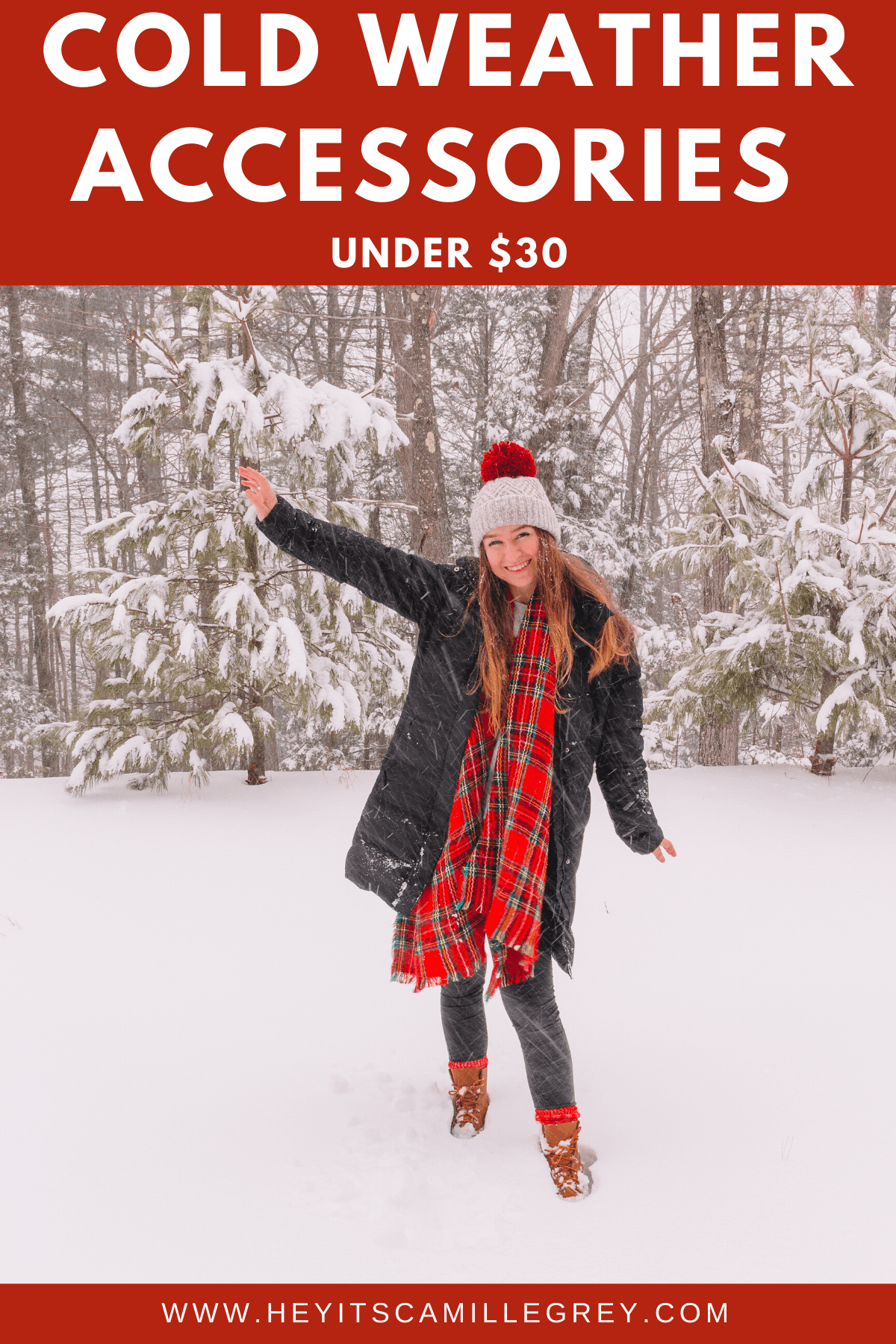 Cold Weather Accessories under $30 | Hey Its Camille Grey #fashion #gloves #wintersocks #scarves #beanies #coldweather #winter