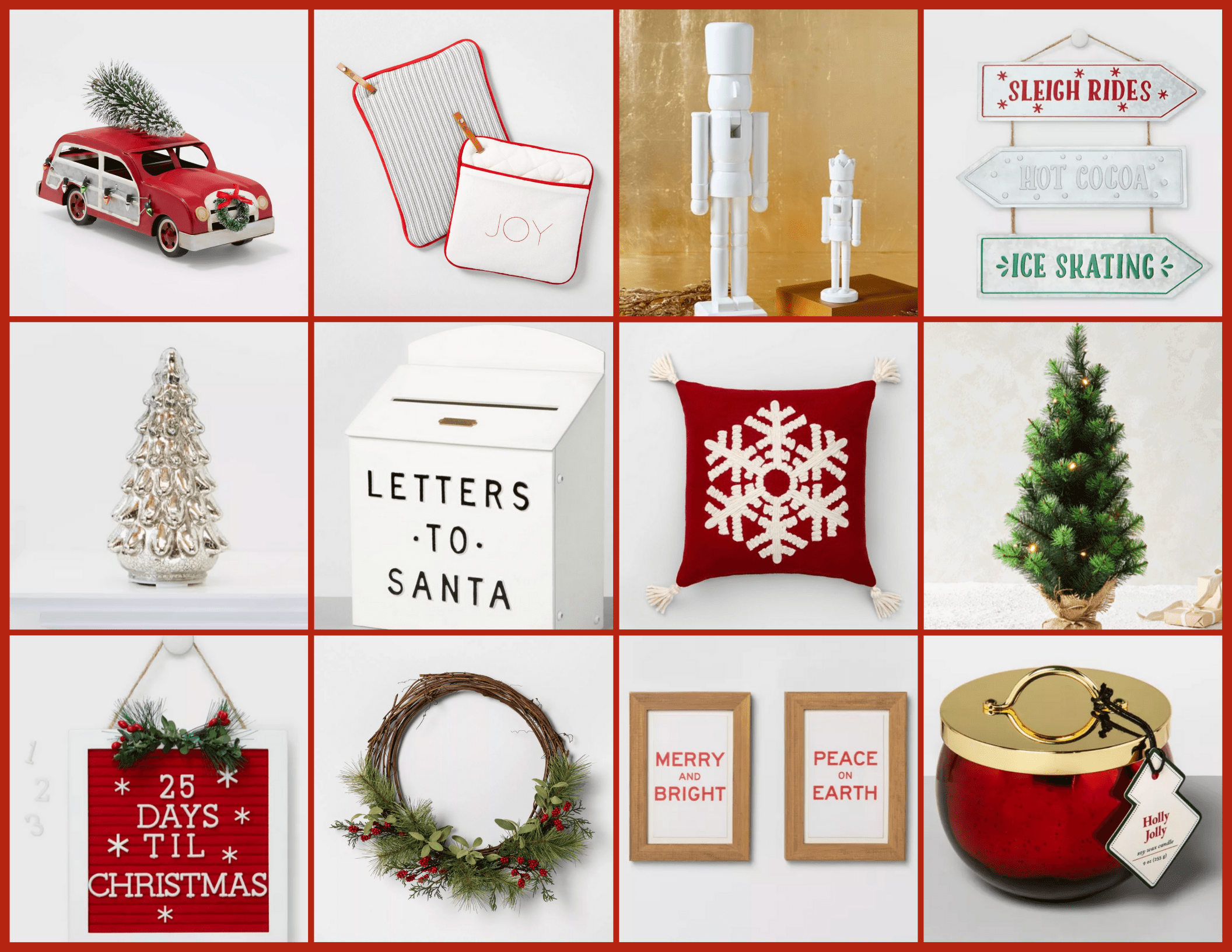 50 Holiday Decor Pieces Under $50 | Hey Its Camille Grey #holidaydecor #holiday #decor #christmas #decorating #winter